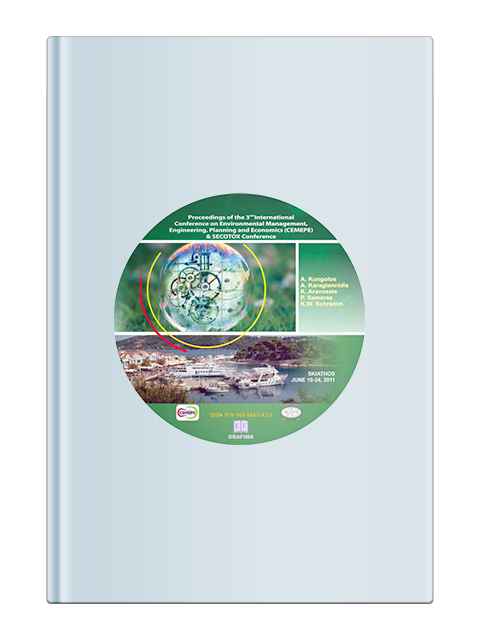 Proceedings of the 3nd International Conference on Environmental Management, Engineering, Planning and Economics, CEMEPE 2011